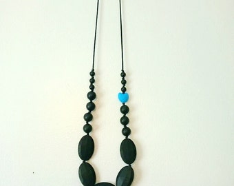 The Rebekka Necklace-Teething Necklace-Nursing Necklace-Custom Necklace-Silicone Jewelry-Modern Necklace-Trendy Teething