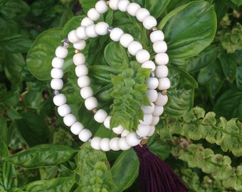 White Wood Bracelet