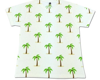 All Over Print Palm Trees Graphic T Shirt Beach Sublimation Trendy Cool Festival Fashion
