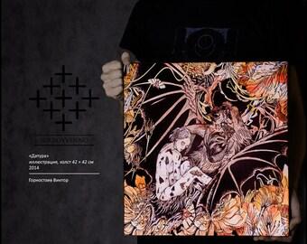 """Artwork canvas print """"Daturah"""" art decor Giclee gallery"""