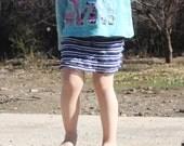 Sale Blue Stripes Ruffles Mini Skirt sizes 2, 3, 4, 5