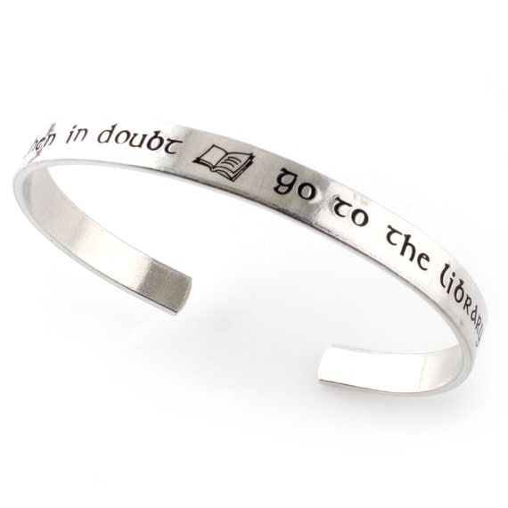 Go to the Library Handstamped Silver Bangle