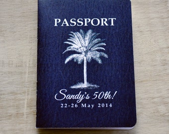 Passport Invitation Design Fee (50th Birthday Invitation)