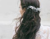 Wedding Hair Piece, Bridal Floral Headpiece,  Bridal Hair Piece  ,Bridal Hair Accessories, Wedding Headpiece ,Opal Hairpiece