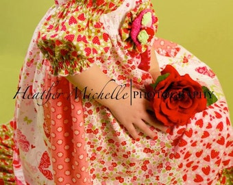PDF Download ALLISONCAROL Strip Work Juvie Moon Designs  Boutique Custom Dress E Book Tutorial  Size 3m to 12 free doll dress pattern