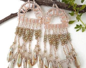 Hippie earrings gypsy jewelry bohemian jewelry tribal earrings statement earrings gypsy earrings fringe earrings tribal earrings boho chic