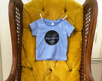 Happily Ever After Tshirt - American Apparel - Super soft babies children Kids clothing