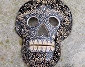 Skull Mask - ceramic wall decor