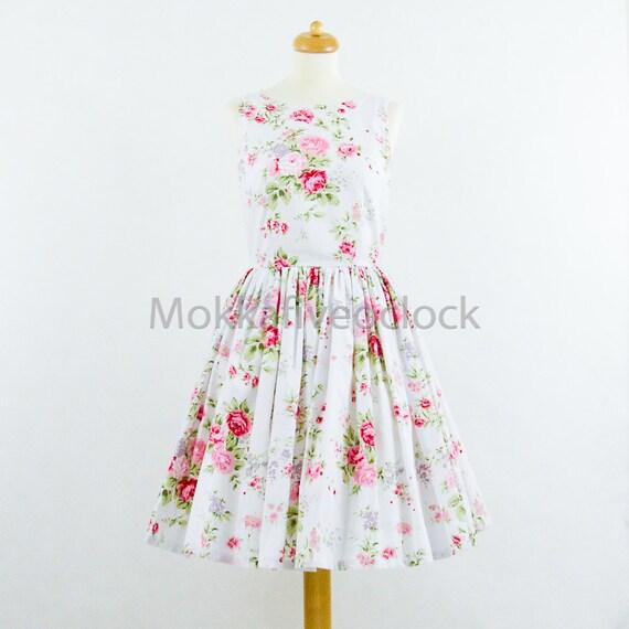 Bridesmaid Dress English Garden Dress Floral Dress Cotton
