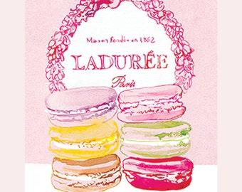 Ladurée Paris Macaroons , A3 giclée print