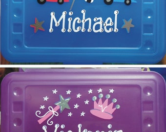 Personalized Pencil Box / Pencil Case / Supply Box  / Personalized Craft Box / Party Favors