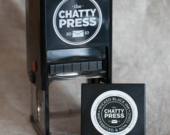 Replacement BLACK Ink Pad for Interchangeable Self-inking stamps from the Chatty Press