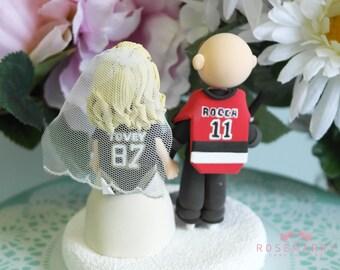 Custom Cake Topper- Big Hockey Fans