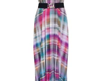 Plaid maxi dress | Etsy