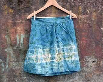 Perfect Summer Skirt, size 12 (M/L), eco friendly clothing, upcycled women's skirt, naturally dyed clothing