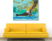 Original acrylic and mixed media painting, wall canvas, wall art - Trust your wings by Suzielou