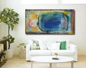 Acrylic on Canvas, Abstract Painting, Contemporary Art, Modern Art,  Blue Painting, Original Art, by Cheryl Wasilow