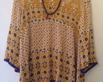 Indian floral tunic