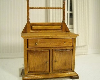 Vintage washstand 1:12 scale for dollhouse