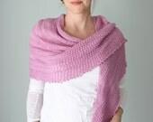 Sidere Schal stricken Projektkit - enthält: PDF-Muster und ein Knäuel von Hand gefärbt Starbright Lacegarn in Farbe Wahl