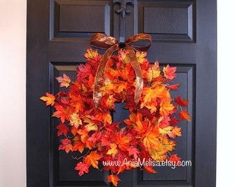 fall wreath for front door decorations, fall autumn wreaths outdoor wreaths, home decor housewares gift ideas