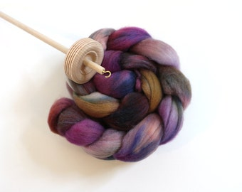 3.5oz Polwarth/Silk 85/15 'Hidden Spring' Combed Top Roving Handdyed Spinning Fiber Polwarth Silk
