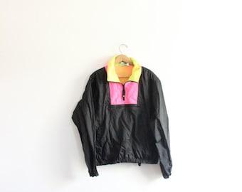 Neon OP Colorblock 80s Windbreaker