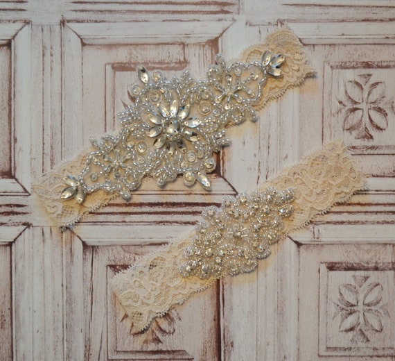Wedding Garter Wedding Garter Set SALE By SpecialTouchBridal