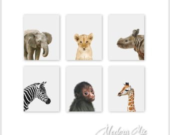 Safari Nursery Decor Zoo Animals Nursery Decor Baby Nursery Print Art Jungle Nursery Jungle Nursery Art Baby Animal Prints Safari Animals