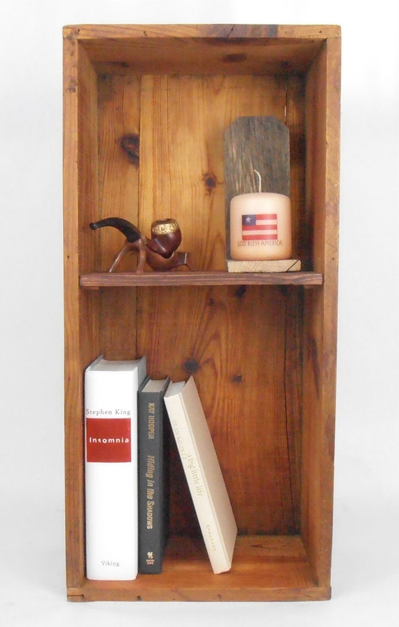 wood crate bookcase bookshelf. Black Bedroom Furniture Sets. Home Design Ideas