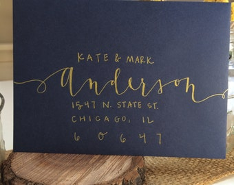Hand-lettered envelopes