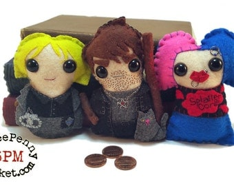 Harry Dresden, Karrin Murphy and Molly Carpenter - Dresden Files plushies