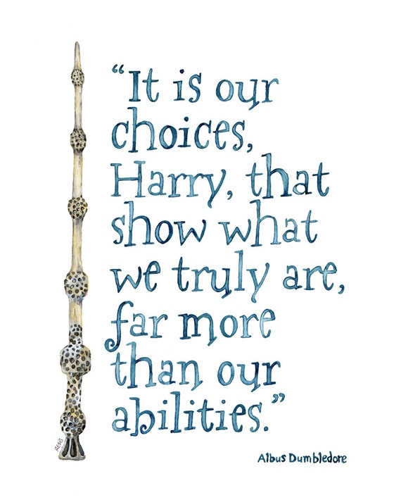 Harry Potter Quote Painting Print From Original Watercolor