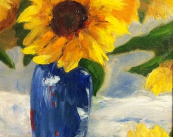 Sunflowers, original oil