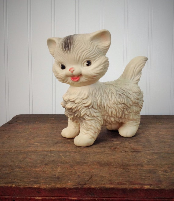 Vintage Rubber Squeaky Cat Toy Edward Mobley Arrow Rubber Co
