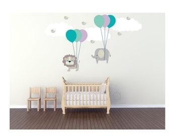 Wall Decals Nursery, Wall Decal Nursery, Nursery Wall Decal, Baby Wall Decal, Jungle Wall Decal, Safari Wall Decal, REMOVABLE and REUSABLE