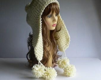 Instant Download,Hat Knitting Pattern, Pattern PDF, PDF Knitting Pattern, Trapper Hat, Digital Patterns, Aviator Hat Pattern, Ear Flap Hat