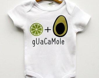 Avocado Onesie, Funny Baby Onesie, Hip Baby Clothes, Avocado Shirt, Hipster Baby Clothes, Trendy Baby Clothes, Modern Baby Onesie