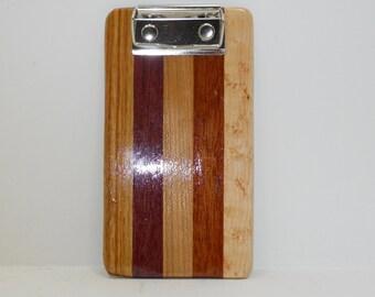 Mini Wooden Clipboard
