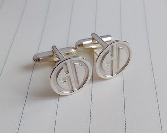 Two Letter Monogram Cufflinks,Wedding Cufflinks,Groom Cufflinks,Personalized Cufflinks,Engraved Cufflinks,Groom Gift from Bride