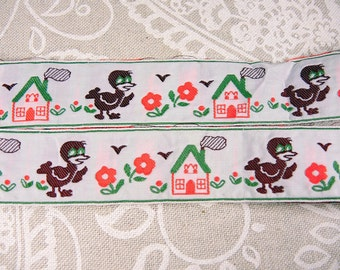 Funny vintage woven ribbon