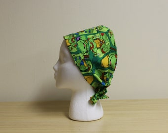 Green Teenage Mutant Ninja Turtles Surgical Scrub Cap Dentist Chemo Hat