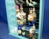 Wood Glass Wall Curio Cabinet  Shelf or Tabletop Display