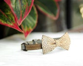 Upcycled leather bow tie bracelet