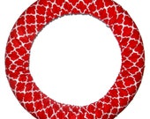 Steering Wheel Cover Red Quatrefoil-Red Car Decor-Cute Car Accessory-Quatrefoil Wheel Cover-Car Accessory for Women
