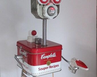 LAZER- Found object robot sculpture~assemblage