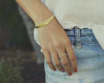 initial cuff bracelet, custom bracelet, stamped bracelet, bangle bracelet, mommy bracelet, personalized gift