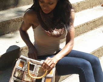 Patchwork Suede Purse