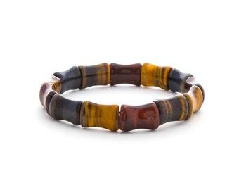 Multi Color Cuff Bracelet/ Multi Color Bracelet/ 3 Color Tiger Eye Bracelet/ Tiger Eye Cuff Bracelet/ Tiger Eye Jewelry