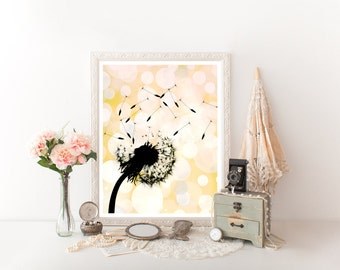 Dandelion Printable, Dandelion Art, Dandelion Digital Download, Dandelion Wall Art, Dandelion Flower, Dandelion Décor, Dandelion Print 0262